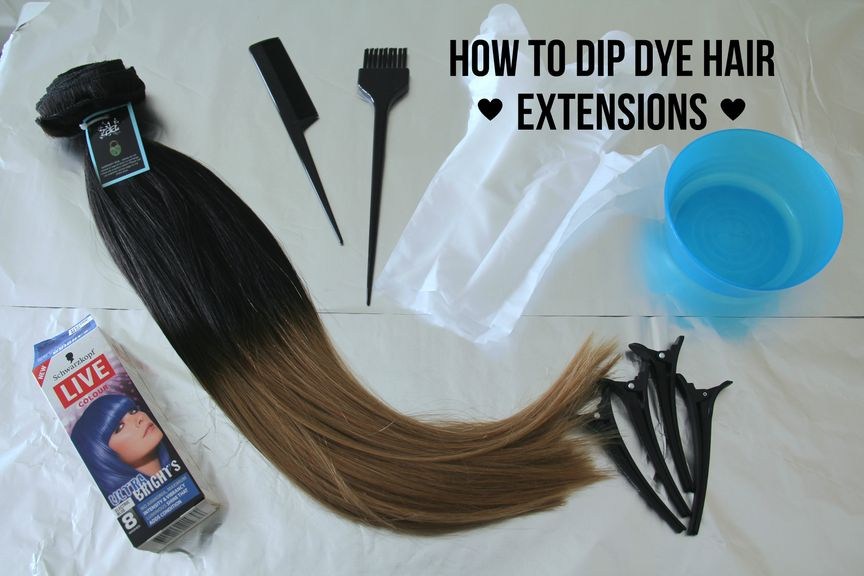 How to Dip Dye Hair Extensions - ZALA Clip in Hair extensions
