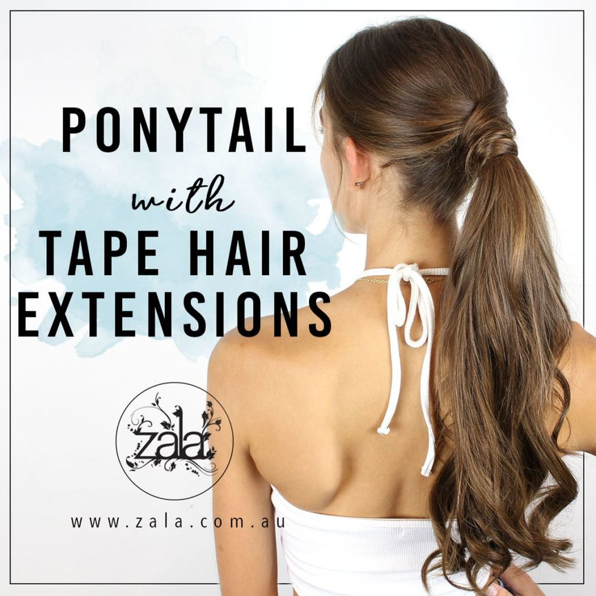Tape extensions ponytail