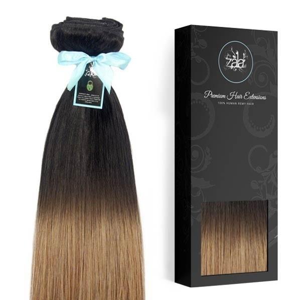 020f637216deb Balayage Natural black   Dirty Blonde Highlighted Clip in Human hair ...