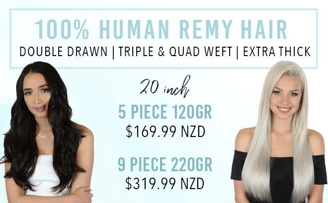 20 inch clip in hair extensions remy human