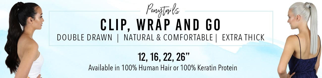ZALA Clip in wrap ponytail hair extensions